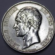 LEOPOLD I ROI DES BELGES  1865   5 FRANCS ARGENT  _ 2 SCANS - 1831-1865: Léopold I