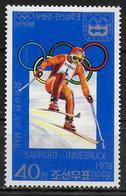 COREE DU NORD   PA  3A   * *   Jo 1976   Ski - Ski