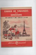 Cahier De Vacances Magnard Années 1955 CE 2 Année 8 A 9 Ans Loulou Et Babette Découvre Paris  35 Pages - Livres, BD, Revues