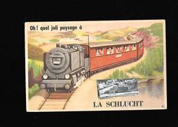 C.P.A. AVEC DEPLIANT DE LA SCHLUCHT 88 - France