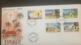 O) 1976 TUVALU-CHRISTMAS -ARCHITECTURE-CHURCH, NEW TESTAMENT -LOTOLELEI -NANUMEA, KELUPU -NUI, MATALOA O TUVALU-VAITUPU, - Tuvalu