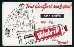 BUVARD:  VITABRIL UNE PRODUCTION VITAPOINTE - FORMAT  Env. 13,5X21 Cm - Perfume & Beauty