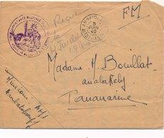 Lettre Ambatolamry FM Assistance Médicale Madagascar - Madagascar (1889-1960)