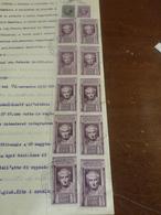 DOCUMENTO CON 10 MARCHE  LIRE 3 ENTE DI PREVIDENZA A FAVORE DEGLI AVVOCATI E DEI PROCURATORI + ALTRE 2 -1938 - Fiscale Zegels