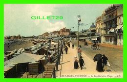 LES SABLES-D'OLONNE (85) - LE REMBLAI ET LA PLAGE, ANIMÉE - LL. - - Sables D'Olonne