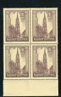 AUSTRIA  AUTRICHE ÖSTERREICH MNH** 1946   S. STEFANO 2+10 SCH VIERBLOCK - 1945-.... 2ème République