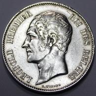 LEOPOLD I ROI DES BELGES  1849   5 FRANCS ARGENT  _ 2 SCANS - 1831-1865: Léopold I