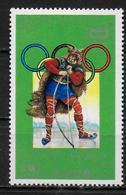 COREE DU NORD   N°1441F  * *   Jo 1976  Tir A L Arc Patinage Viking - Tir à L'Arc