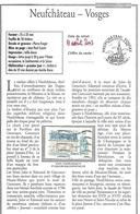 Timbre Neufchâteau Vosges Frères Goncourt Sur Copie Page Philinfo Expliquant Le Sujet - Monuments