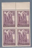 AUSTRIA  AUTRICHE ÖSTERREICH MNH** 1946   S. STEFANO 1+5 SCH VIERBLOCK - 1945-.... 2ème République