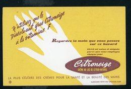 BUVARD:  CITRONEIGE CREME POUR LA SANTÉ ET LA BEAUTÉ DES MAINS - FORMAT  Env. 13X20,5 Cm - Parfums & Beauté