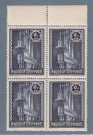 AUSTRIA  AUTRICHE ÖSTERREICH MNH** 1946   S. STEFANO 6+24  GR VIERBLOCK - 1945-.... 2ème République