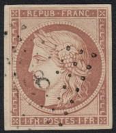 N°6, Cérès 1849, 1fr Carmin-très-pâle, Probablement FAUX - 1849-1850 Ceres