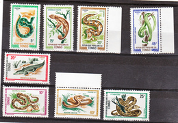 Congo  289 296 Reptiles Neuf ** TB Mnh Sin Charnela - Congo - Brazzaville