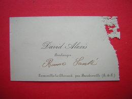 ANCIENNE CARTE DE VISITE  DAVID ALEXIS BOULANGER  LEVESVILLE LA CHENARD PAR BAUDREVILLE E Et L - Cartes De Visite