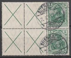 Deutsches Reich    .     Michel       .    2  Marken         .       O        .      Gebraucht - Zusammendrucke