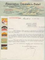 Facture Illustrée 23/8/1940 NEOGUM Alimentation Générale Du Bétail Tourteaux  MARSEILLE Centaure Goret Bison - 1900 – 1949
