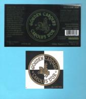 BROUWERIJ HET ANKER - MECHELEN - GOUDEN CAROLUS - CAROLUS D'OR  -  2 BIERETIKETTEN  (BE 020) - Cerveza