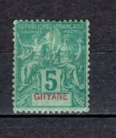 GUYANE  N° 33  NEUF  AVEC CHARNIERE  COTE  14.00€  TYPE GROUPE - Neufs