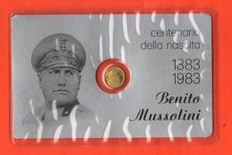 20 Lire Di Mussolini  Pseudo Moneta Token Gettone In Blister Anno 1983 X 100° Birth - Italia