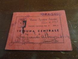 ABBONAMENTO STAGIONE CALCISTICA PALERMO-1948-1949 SERIE A - TRIBUNA CENTRALE-DALLA 22 ALLA 30 - Biglietti D'ingresso