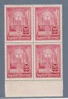 AUSTRIA  AUTRICHE ÖSTERREICH MNH** 1946   S. STEFANO 30+1,20 GR VIERBLOCK - 1945-.... 2ème République