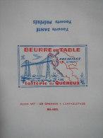 T726 / étiquette D'emballage Beurre De Table 125g PONT TRANSBORDEUR De La Laiterie De ROCHEFORT - Charente-Maritime - Factures