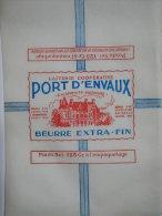 T720 / étiquette D'emballage Beurre De La Laiterie De PORT D'ENVAUX - Chateau - Charente-Maritime - Factures