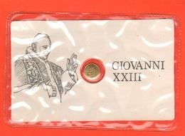 Papa Pope Giovanni XXIII° Gettone Medaglietta Token In Blister Fine Anni '70 Basilica S. Pietro Al Retro - Gettoni E Medaglie