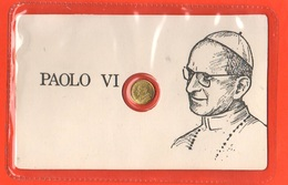 Papa Pope Paolo VI° Gettone Medaglietta Token In Blister Fine Anni '70 Basilica S. Pietro Al Retro - Gettoni E Medaglie