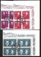 Liechtenstein 1943: Fürstenhochzeit (Franz Josef II & Gina) Zu 175-177 Mi 211-213 Yv 186-188 So-o (Zumstein CHF 20.00) - Liechtenstein
