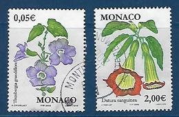 """Monaco YT 2321 & 2322 """" Flore """" 2002 Oblitéré - Monaco"""
