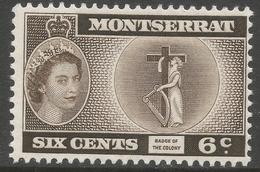 Montserrat. 1953-62 QEII. 6c MH (type II). SG 142a - Montserrat