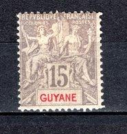 GUYANE  N° 45  NEUF  AVEC CHARNIERE  COTE  135.00€  TYPE GROUPE - Neufs