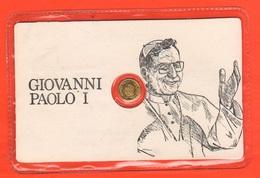 Papa Pope Luciani Giovanni Paolo I°  Gettone Medaglietta Token In Blister Fine Anni '80 La Pietà Al Retro - Gettoni E Medaglie