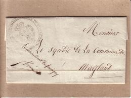 HAUTE SAVOIE - MILITARIA - LETTRE DU COMMANDANT DU FAUCIGNY POUR LE SYNDIC DE MAGLAND , GRENADIER PEROLLAZ - 1841 - Documenti