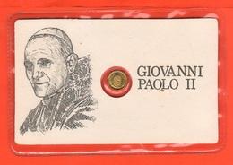 Papa Pope Giovanni Paolo II° Gettone Medaglietta Token In Blister Fine Anni '80 Chiavi S.Pietro Al Retro - Gettoni E Medaglie