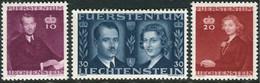 Liechtenstein 1943: Fürstenhochzeit (Franz Josef II & Gina) Zu 175-177 Mi 211-213 Yv 186-188 ** MNH (Zumstein CHF 5.00) - Liechtenstein