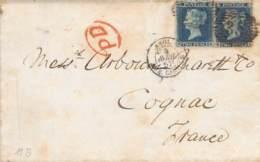 Engl.Brief Nach Frankreich 1857 AKS MiNr.11?? AKS - Lettres & Documents