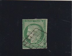 France N° 2 Deuxieme Choix Belle Présentation Fillet Touché Deux Fente - 1849-1850 Ceres
