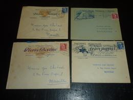 LOT DE 56 ENVELOPPES COMMERCIALES ILLUSTREES 1949 à 1956 BON ETAT - CORRESPODANCE - MARCOPHILIE - Marcophilie (Lettres)