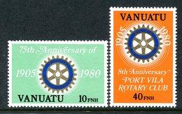 Vanuatu 1980 75th Anniversary Of Rotary International - English Legend - Set MNH (SG 300E-301E) - Vanuatu (1980-...)