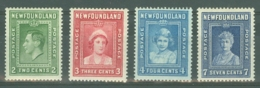 Newfoundland: 1938   Royal Family    MH - 1908-1947