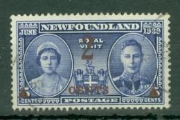 Newfoundland: 1939   Surcharge   SG273   2c On 5c    Used - Newfoundland