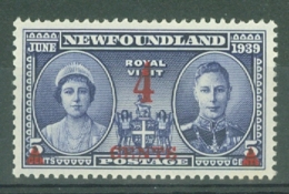 Newfoundland: 1939   Surcharge   SG274   4c On 5c    MH - Newfoundland
