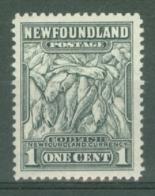 Newfoundland: 1941/44   Pictorial  SG276   1c   [Perf: 12½]   MH - Newfoundland