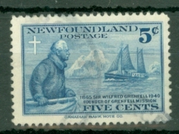 Newfoundland: 1941   50th Anniv Of Wilfred Grenfell's Labrador Mission    Used - 1908-1947
