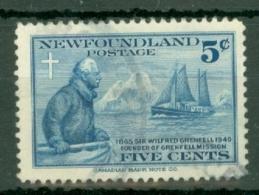 Newfoundland: 1941   50th Anniv Of Wilfred Grenfell's Labrador Mission    Used - Newfoundland