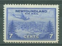 Newfoundland: 1943   Air - St John's  SG291   7c   MH - Newfoundland