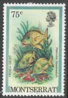 Montserrat. 1981 Fish. 75p MH. SG 564 - Montserrat